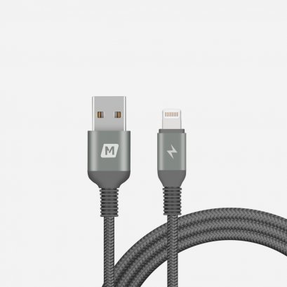 Momax Elite Link Triple-Braided Nylon Lightning Cable (1.2M) - Black