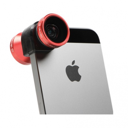 Olloclip 4-IN-1 Lens for iPhone 5/5s - Red Lens/Black Clip