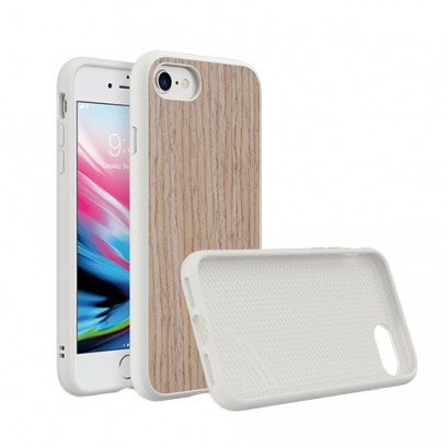 Rhinoshield SolidSuit for iPhone 8/7 - Light Walnut / White