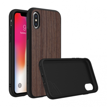 Rhinoshield SolidSiut for iPhone X / Xs - Dark Walnut / Black