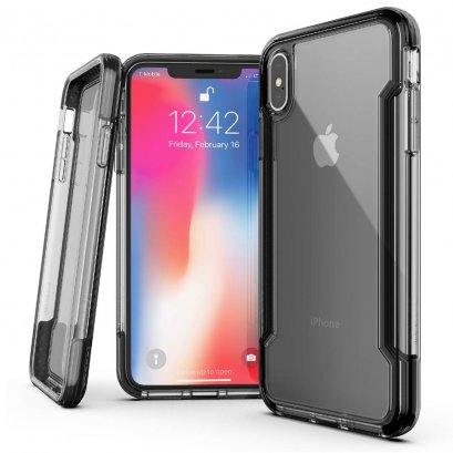X-doria Defense clear for iPhone Xs Max - Black