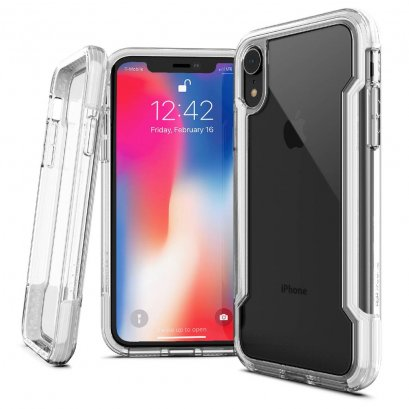 X-doria Defense clear for iPhone XR - White