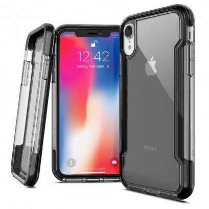 X-doria Defense clear for iPhone XR - Black