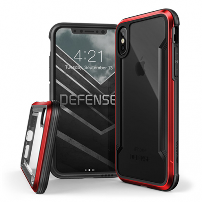 X-doria Defense Shield for iPhone X / Xs - Red