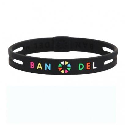 BANDEL stringbracelet ストリングブレスレットBlackxMulti