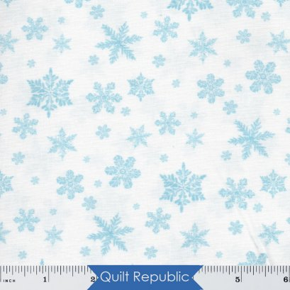 Northcott  Christmas Woodland Snowflakes White