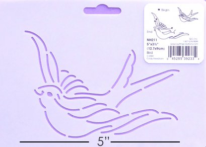 Quilting Creation Stencil Bird 5 Inches
