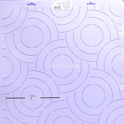 Quilting Creation Stencil Modern Circle Background 7 Inches