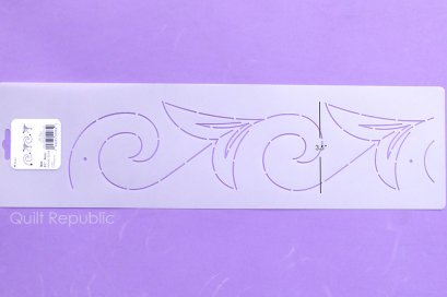 Quilting Creation Stencil Nordic Scroll 3.5 Inches