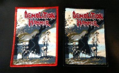 DEMOLATION HAMMER'Epidemic Violence' Woven Patch.(Bootleg)