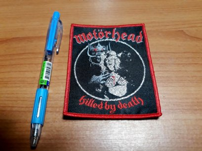 MOTORHEAD'Killed by Death' Woven Patch.