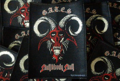 G.A.T.E.S'Skull Bloody Skull' Woven Patch.