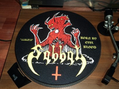 SABBAT'Born By Evil Blood' Turntable Mat.