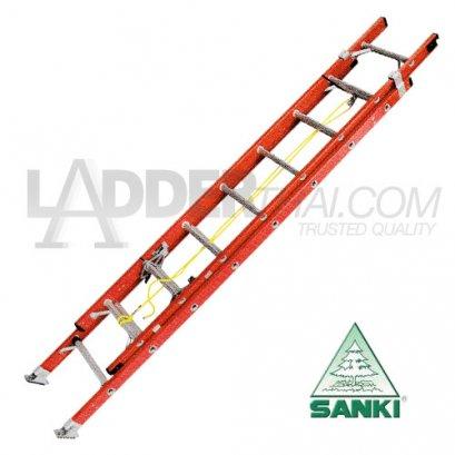 บันไดไฟเบอร์กลาสสไลด์เลื่อน 2 ตอน SANKI : LD-FBL