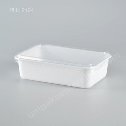 กล่องอาหาร ขนาด 250 gm PP สีขาว พร้อมฝาใส