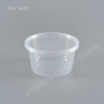 กล่องอาหารกลม PP ใส (16 oz) + ฝาใส