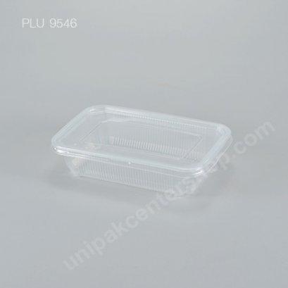 กล่องอาหาร PP ใส 650 ml (ลอน) + ฝา PP ใส