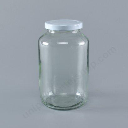 ขวดแก้ว 24 oz TG757 + ฝาทองเกลียวล้อค 63 mm