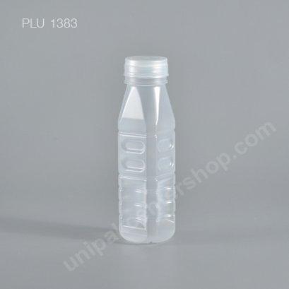 ขวดน้ำผลไม้ PP เหลี่ยม ขนาด 220 cc ปากกว้าง พร้อมฝา