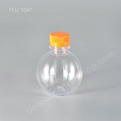 ขวดน้ำผลไม้PET 220 cc ลูกส้ม+ฝาส้ม