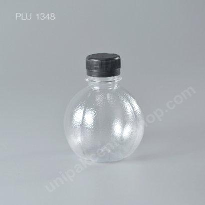 ขวดน้ำผลไม้ PET 220 cc. ลูกส้ม+ฝาดำ