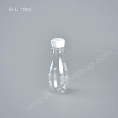 ขวดน้ำผลไม้PET ทรงหยดน้ำ 140cc +ฝาขาว ปาก30mm