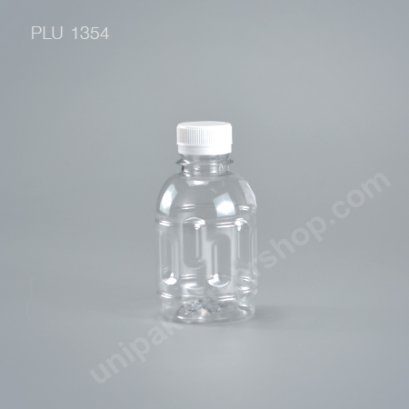 ขวดน้ำผลไม้PET กระปุกมีลาย 220cc +ฝาขาว ปาก30mm