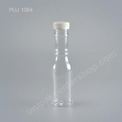ขวดน้ำผลไม้PET 250ccโรซ่า+ฝาขาว ปาก34mm