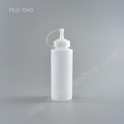 ขวดซอสขนาด 12 oz สีใส 340 ml (9094 TR) + ฝาขาว