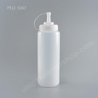 ขวดบีบสูง ขนาด 32 oz สีใส 950ml  (9096 TR) + ฝาขาว