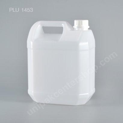 ถัง แกลลอน ขาว 4 ลิตร + ฝาล็อค 12x18.5x24.5 (NO.0404) 4L Gallon with Safety Lock Lid