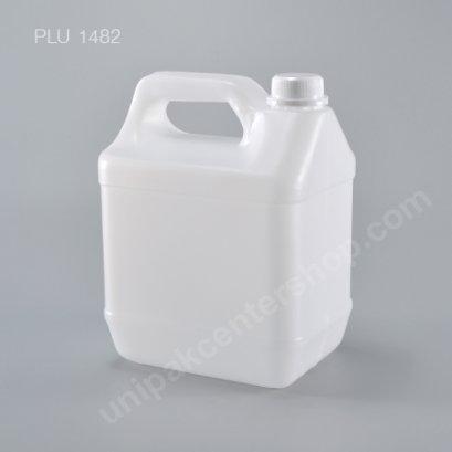 ถัง แกลลอน ขาว 4 ลิตร + จุกใน + ฝาล็อค 13.5x17.5x24 (No.8404) 4L Gallon with Safety Lock Lid