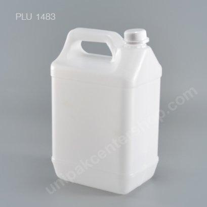 แกลลอนเหลี่ยมสีขาวนม สีขาว 5 ลิตร  NO.8405  + จุกใน + ฝาล็อค