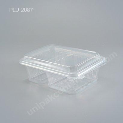 กล่องอาหาร 2 ช่อง PPN (750ml.) + ฝาในตัว