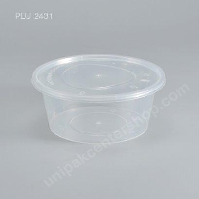 กล่องอาหารกลม PP ใส 750 cc. + ฝา