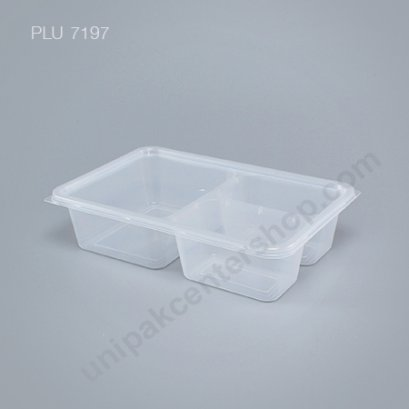 กล่องอาหาร PP 3 ช่อง (900ml.)+ฝาเรียบมีติ่ง ตรา โร้ดดี้แพค