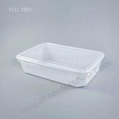 กล่องใส่อาหาร 1ช่อง 250g. PPขาว + ฝาPET ตรา โรดดี้แพค