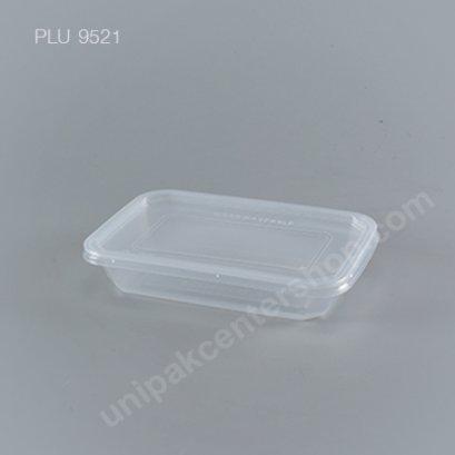 กล่องอาหาร PP ใส (500ml) + ฝา pp ใส
