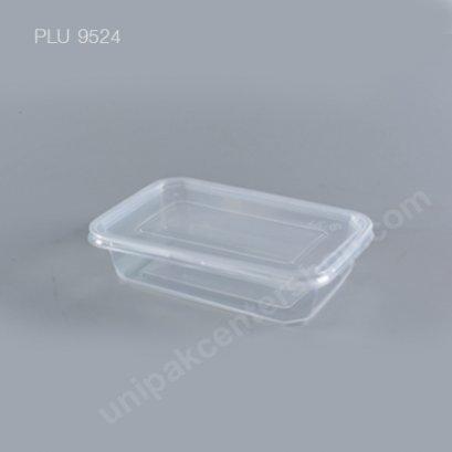 กล่องอาหาร PP ใส (650ml) + ฝา pp ใส