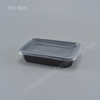 กล่องอาหารppดำ(650ml)+ฝาใส