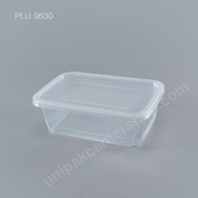 กล่องใส่อาหาร pp ดำ (1000ml.)+ฝาppใส