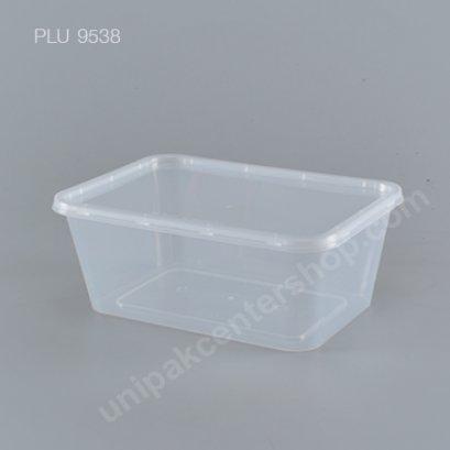 กล่องอาหารเปลี่ยมPPใส (1000ml.)+ฝาใส