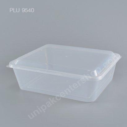 กล่องอาหารเปลี่ยมppใส (2750ml)+ฝาใส