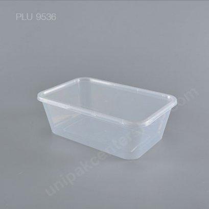 กล่องอาหาร 1 ช่อง PP ใส (1500ml) + ฝาใส