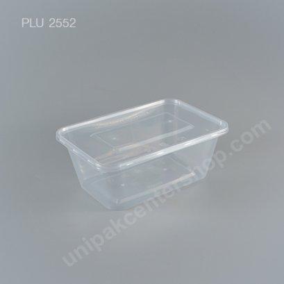 กล่องอาหารเหลี่ยม PP ใส 750 CC. + ฝา