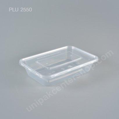กล่องอาหารเหลี่ยม PP ใส 500 CC. + ฝา
