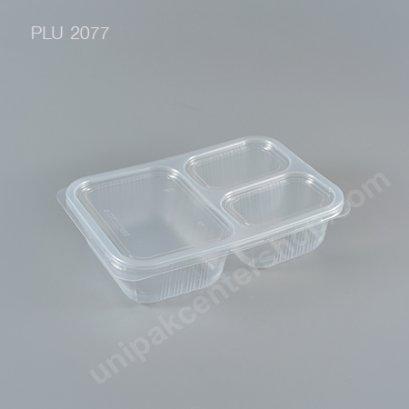 กล่องอาหาร 3 ช่อง PP 860 ml. + ฝา