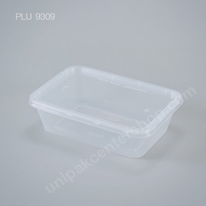 กล่องอาหารเหลี่ยม PP 650 ml + ฝา