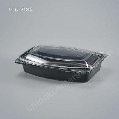 กล่องอาหารญี่ปุ่นเปนโตะ 1 ช่อง PP สีดำ + ฝา PET