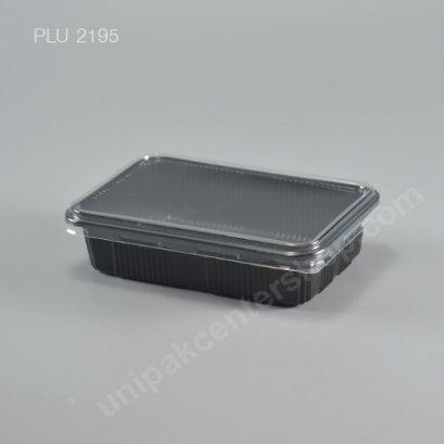 กล่องอาหาร PP ดำ YYE 250G -1 พร้อมฝาใส